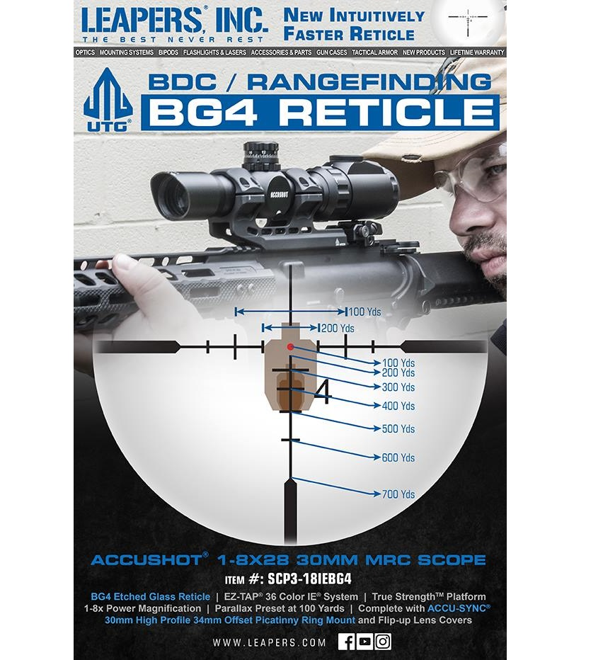 LEAPERS LAUNCHES NEW BG4 ETCHED RETICLE IN NEWEST MRC SCOPE
