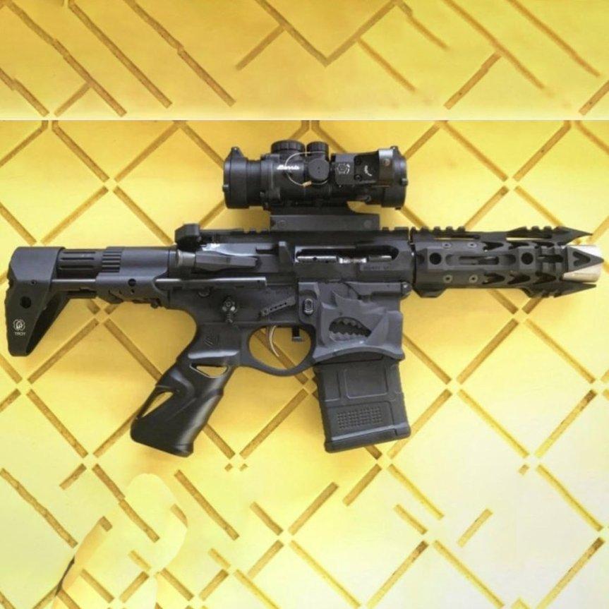 ronin factory ar15 solid aluminum grip. metal ar-15 grip tactical gun blog firearmblog 556 223 blak rifle attackcopter.  3.jpg