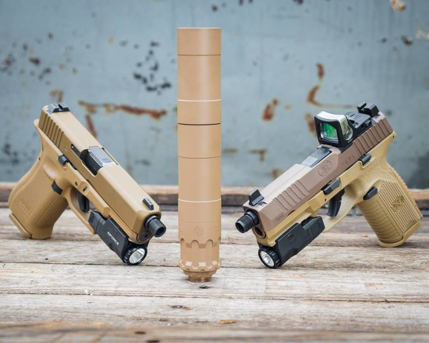 rugged suppressors obsidian 9 in fde attackcopter