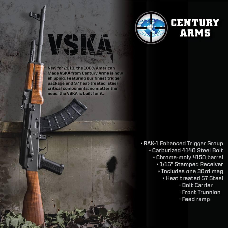 CENTURY ARMS DEBUTS THE HEAVY DUTY VSKA AK RIFLE