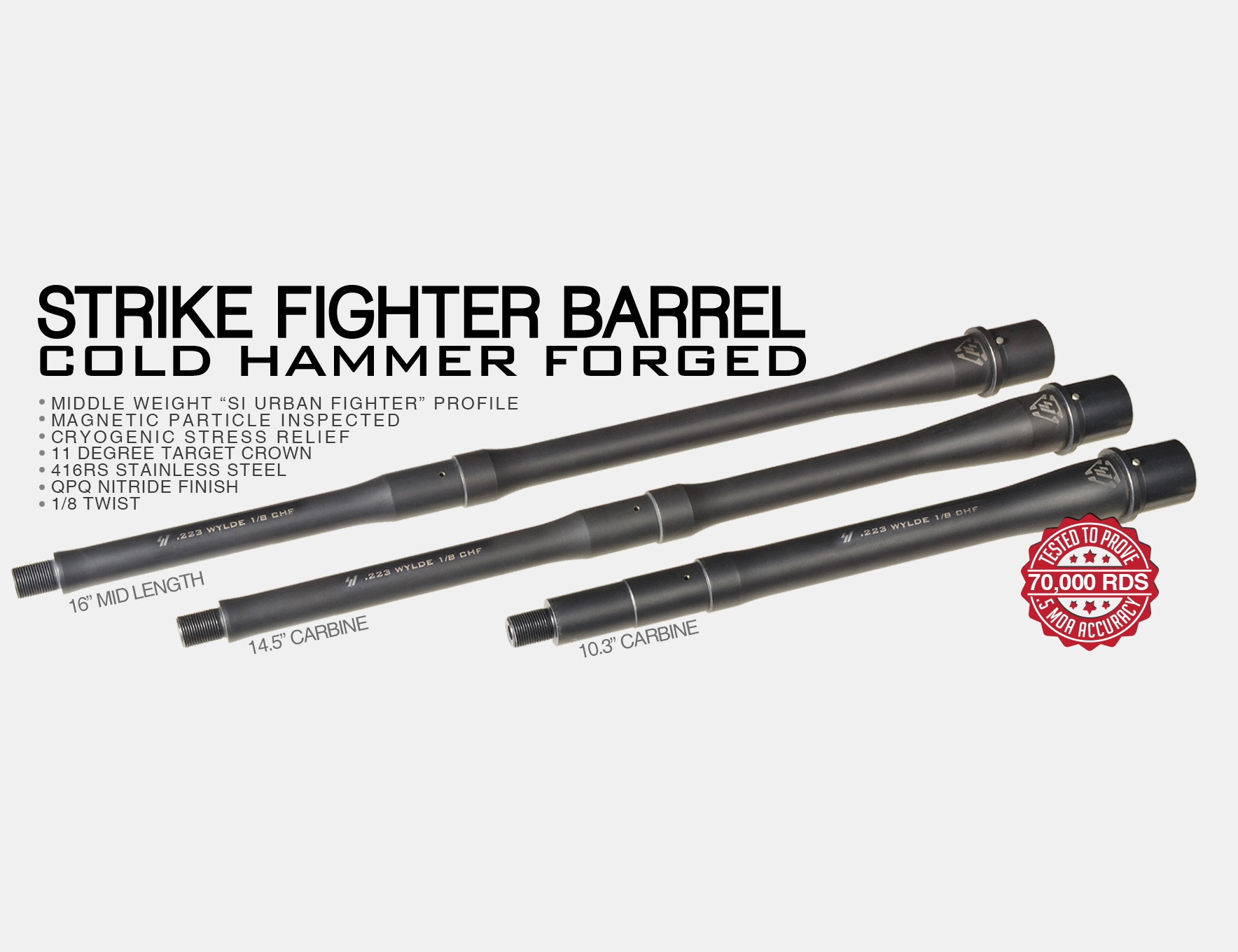 STRIKE INDUSTRIES LAUNCHES NEW LINE OF .223 WYLDE AR-15 BARRELS!