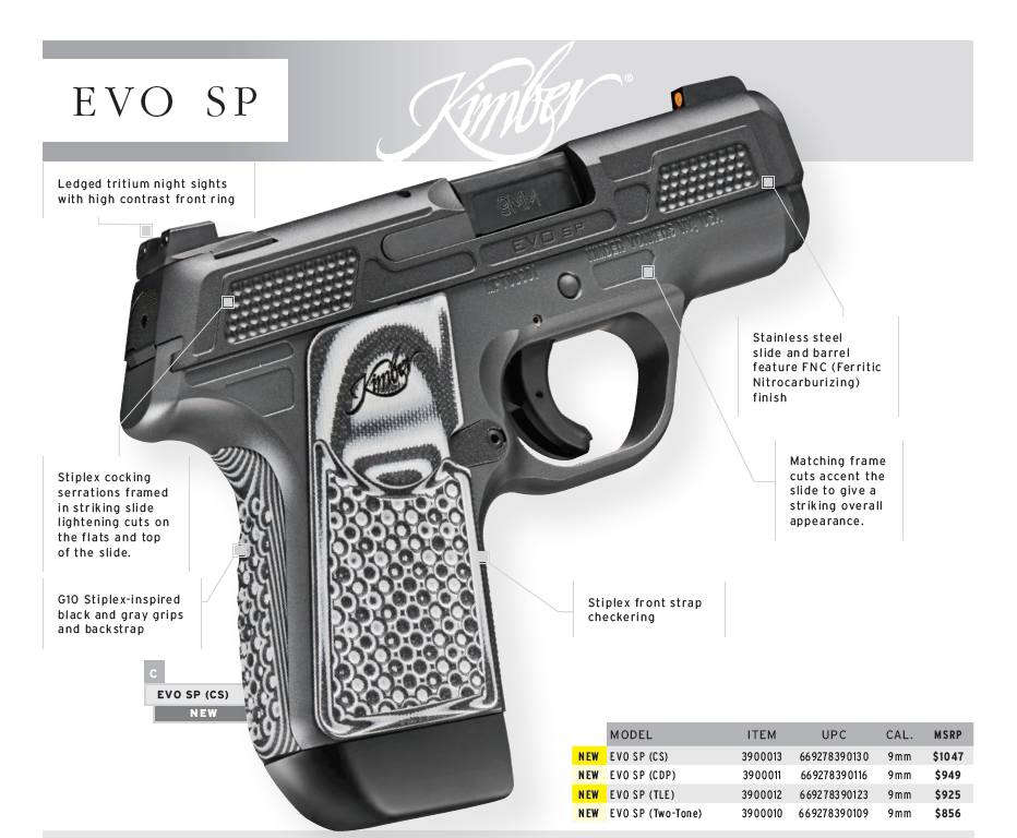 KIMBER ANNOUNCES NEW EVO SP! A STRIKER FIRED PISTOL! WHAT! WHAT!