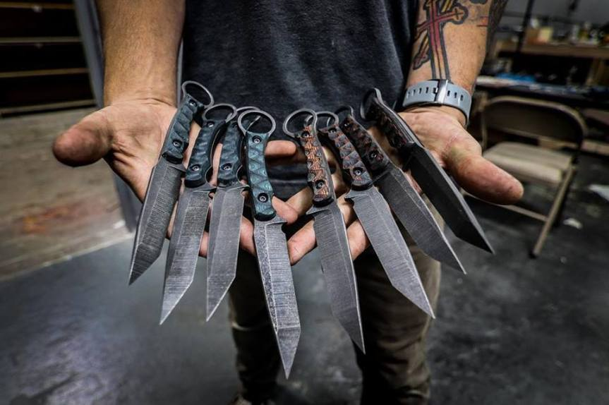 toor knives serpant fixed blade knife tactical knife for chest rig. black rifle custom knives  1.jpg