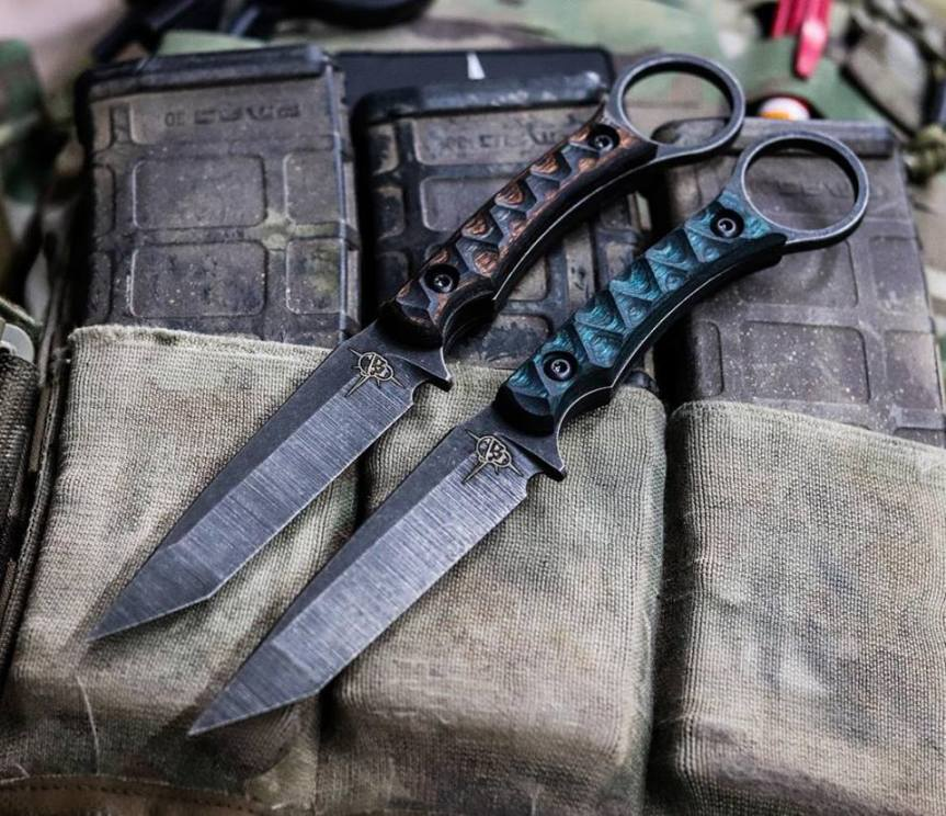 toor knives serpant fixed blade knife tactical knife for chest rig. black rifle custom knives  2.jpg