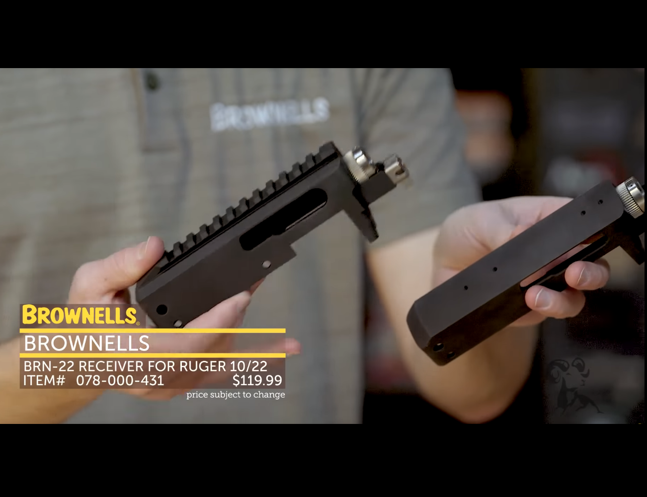 BROWNELLS ANNOUNCES NEW BRN-22T TAKEDOWN STRIPPED RECEIVER FOR THE RUGER® 10/22®