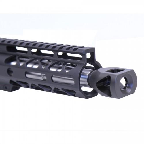 guntecusa microtank compact muzzle device. smallest shortest muzzle brake flash hider for the ar15 2