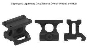 leapers utg super light weight mro mounts trijicon co witness mount low profile