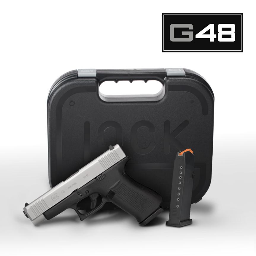 Glock G43x subcompact 9mm  glock 48 compact 9mm  sliver slimline glock  3.png
