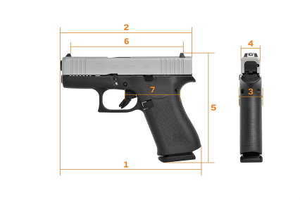 Glock G43x subcompact 9mm new from glock slim 9mm concealed carry pistol sliver slimline glock