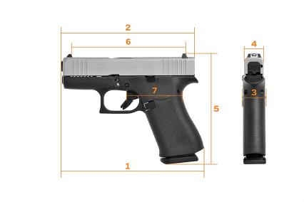 Glock G43x subcompact 9mm new from glock slim 9mm concealed carry pistol sliver slimline glock