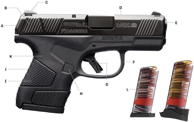 mossberg new subcompact pistol the mc1sc striker fired pistol mc1sc conealed handgun 4