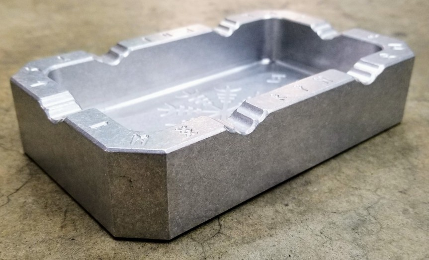 rmj tactical vahalla billet aluminum ashtray for the man cave. 4