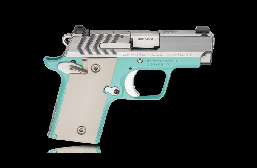 springfield armory 911 380 pistol mini 1911 new color combination tiffany blue pistol 2.png