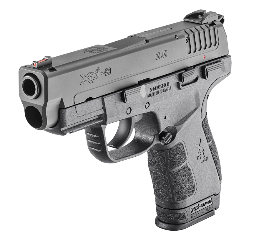 springfield armory xd-e pistol hammer fired single stack springfield grip angle grip zone 4