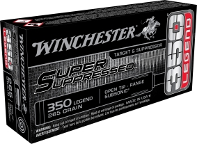 winchester 350 legend straight walled hunting ammo suppressed 350 legend rifle