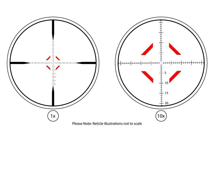 atibal optics atibal x 1-10x30mm FFP scope first focal plain scout scope tactical ar15 rifle scope 4