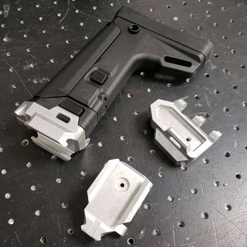 dan haga designs acr stock on a cz scorpion acr stock adapter billet aluminum scorpion stock (2)