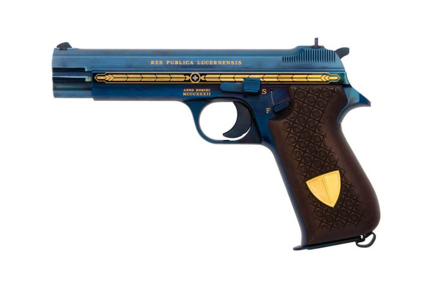 edelweiss arms sig p210 canton lucerne limited edition pistol most valuable gun 2