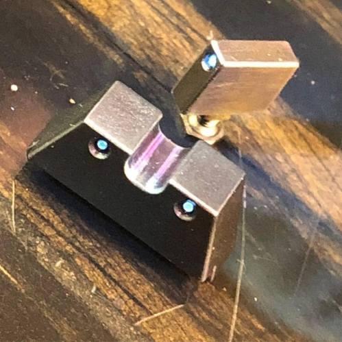 Griffworx glock titanium night sights titanium suppressor sights