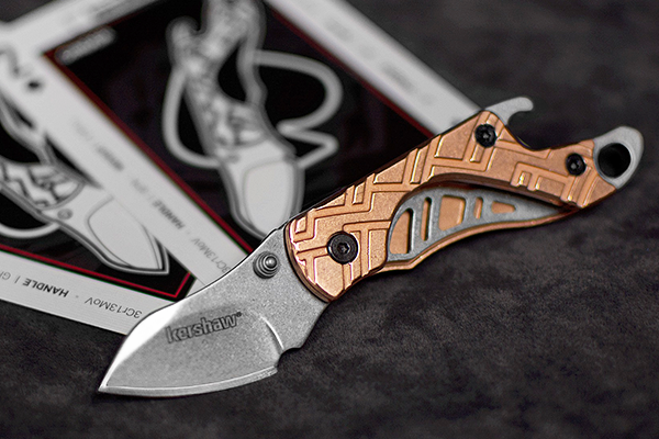kershaw knives rick hinderer cinder copper multi tool pocket knife 3cr13 steel a