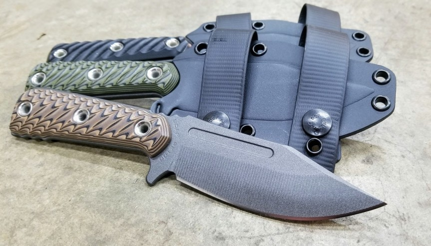rmj tactical ucap fixed blade k nife 52100 carbon steel blade bushcraft edc blade  a.jpg