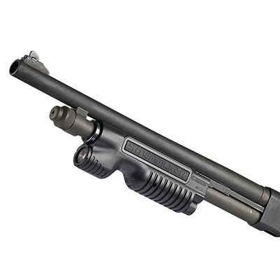 streamlight tl-racker shotgun light forend with a light in it pump action shotgun tactical light