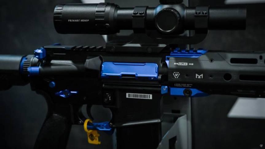 strike industries billet udc ar15 dust covers aluminum dust cover for the AR-15 platform AR-BUDC-223 1