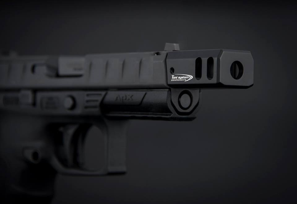 TONI SYSTEM SHOWS SUPPORT FOR THE BERETTA APX PISTOL WITH NEW COMPENSATOR!