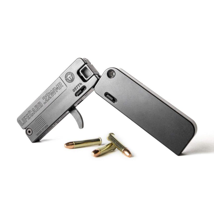 trailblazer firearms lifecard 22 magnum folding pistol in my pocket lifecard 22mr 3