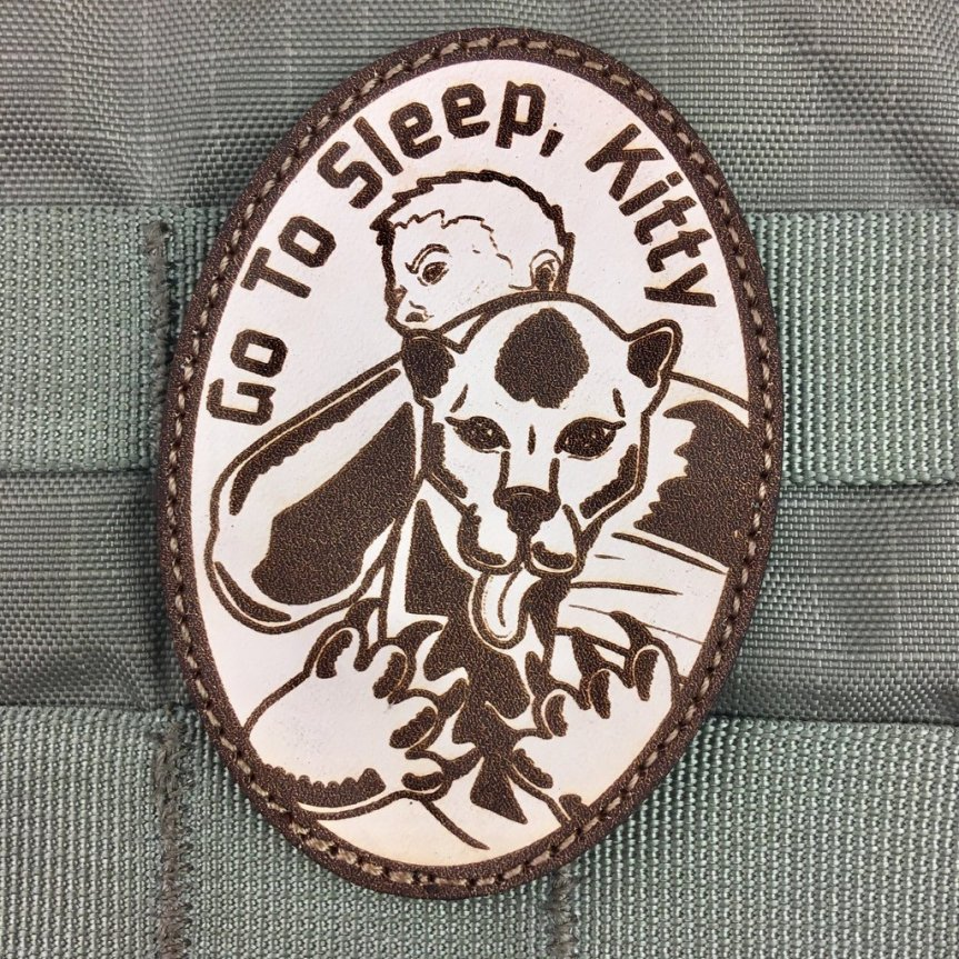 violent little machine shop go to sleep kitty morale patch edc patches killed a mountain lion with his bare hands  1.jpg