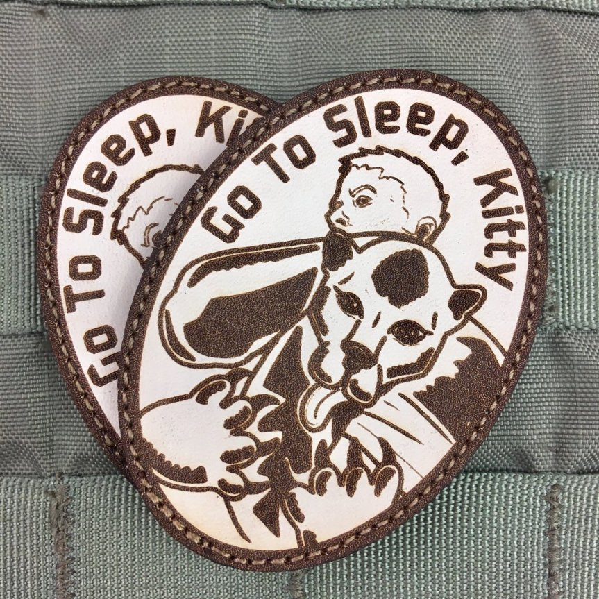 violent little machine shop go to sleep kitty morale patch edc patches killed a mountain lion with his bare hands  2.jpg