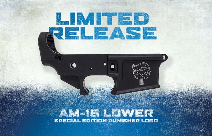 anderson manufacturing trump punisher skull logo ar15 lower receiver for the AR-15 maga lower 1