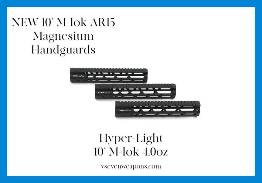 v seven weapon systems hyper light magnesium handguards MLOK lightest rails for the AR15  2.jpg