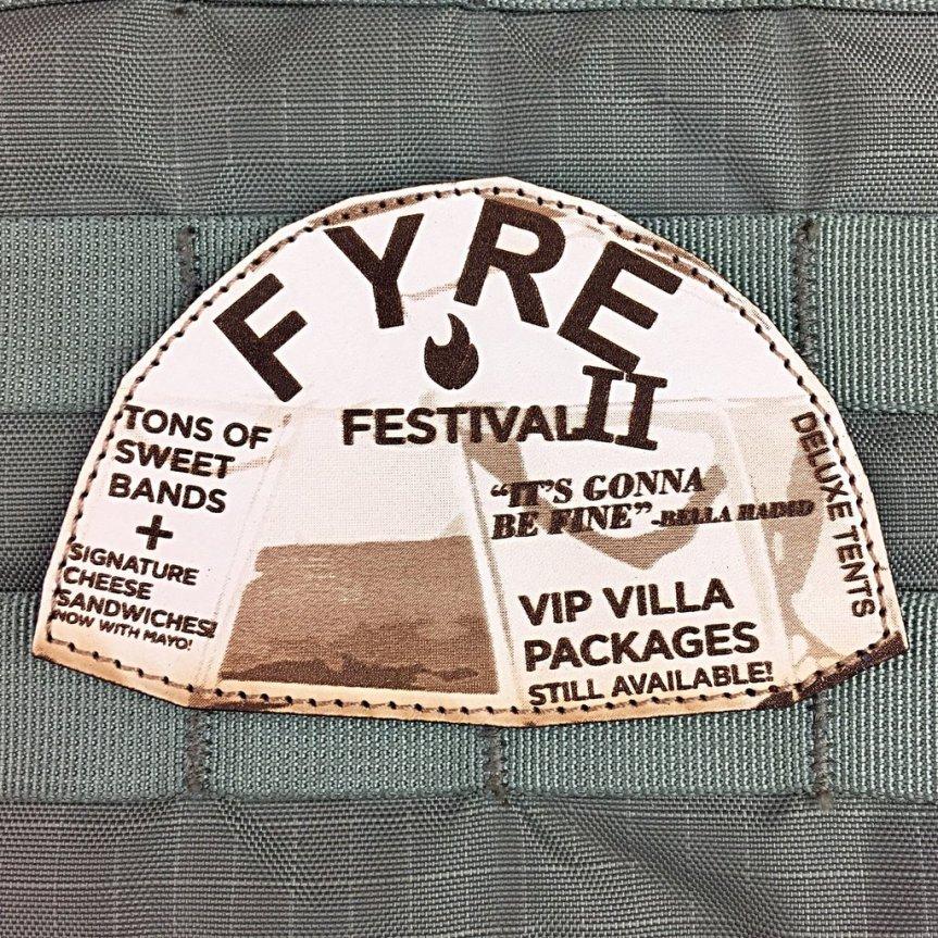violent little machine shop fyre festival two morale patch edc range bag patches for your hat 1.jpg