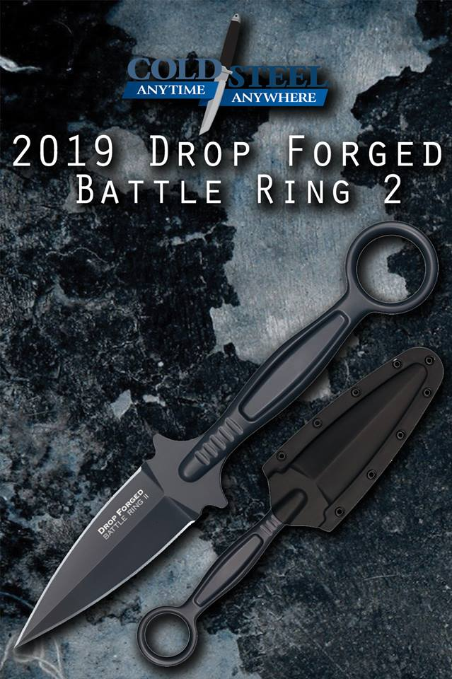 COLDSTEEL DEBUTS THE DROP FORGED BATTLE RING2 FIXED BLADE KNIFE!