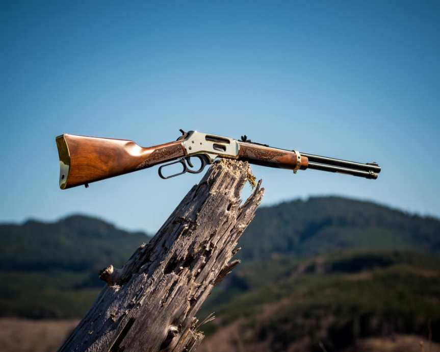 henry repeating arms side gate lever action rifle 30-30 38-55 win 35 rem 1