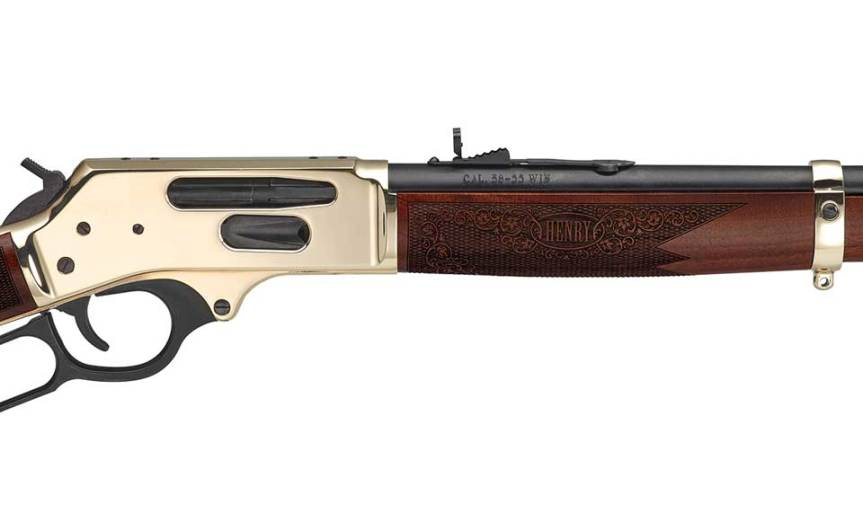 henry repeating arms side gate lever action rifle 30-30 38-55 win 35 rem 3