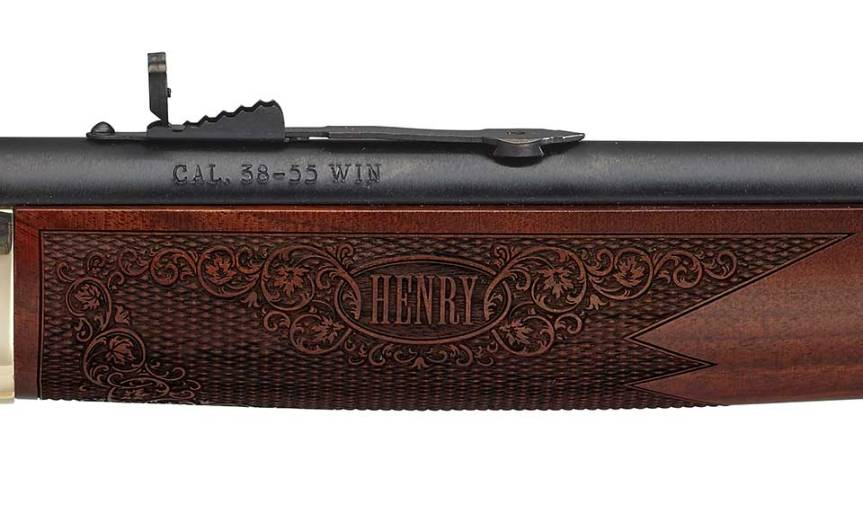 henry repeating arms side gate lever action rifle 30-30 38-55 win 35 rem 4
