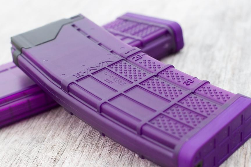 lancer systems l5awm purple translucent magazines 30 round california mags standard capacity ar15 magazines  3.jpg