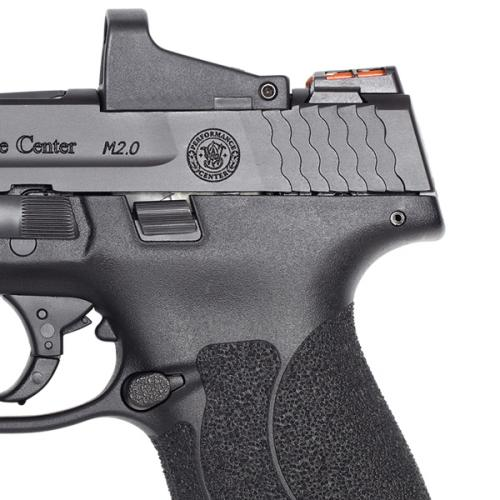 smith and wesson m p shield m2.0 lon slide rmr on shield optics cut smithn and wesson 3