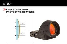 trijicon sro specialized reflex optic sro red dot best pistol slide optic red dot for your glock 19 slide cut