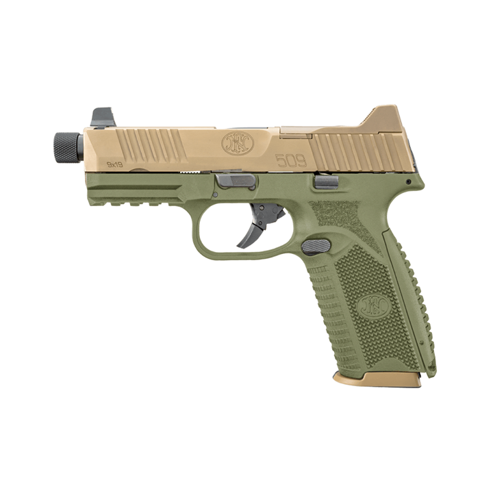 fn america fn 509 tactical in fde with tan slide bill hicks exclusive guns in 9mm 1