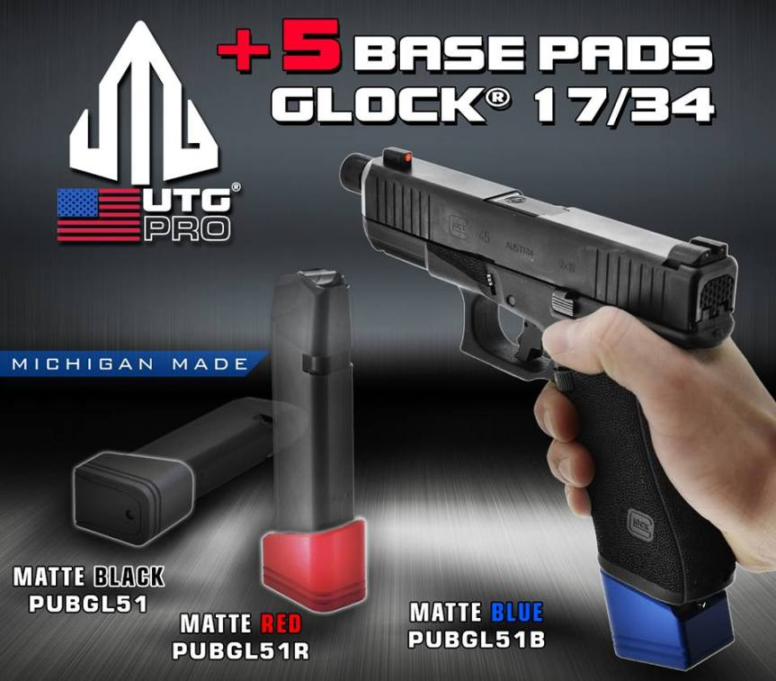 leapers utg glock plus 5 base pads for the glock 17 magazine extensions ipsc uspsa a.jpg