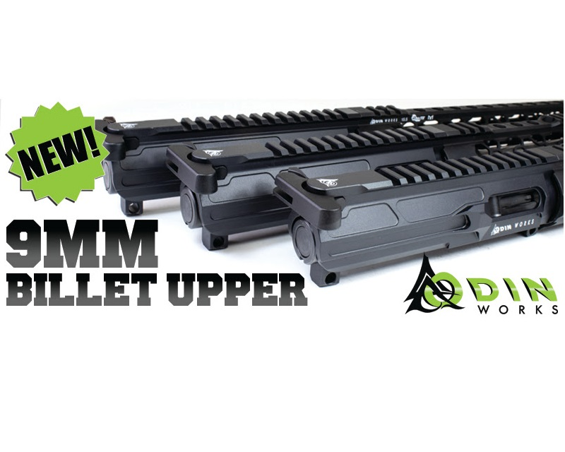 odin works 9mm billet upper receiver ar9 pistol ar15 9mm a