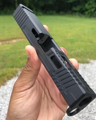 rocket city stippling saturn 4 2.0 custom glock slides rmr cut glock slide stippling glock custom pistols in 9mm