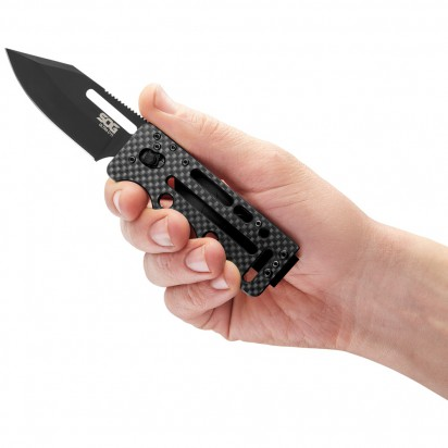 sog knives ultra C-TI blackout knife folding knife ultra light blade for carry 6