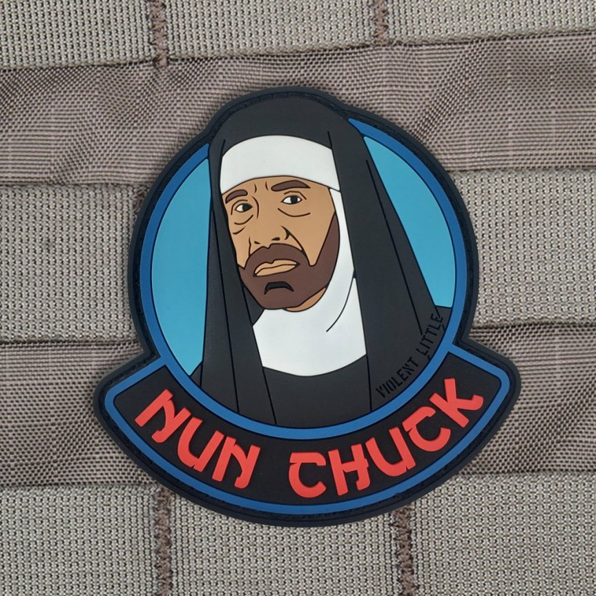 violent little machine shop nun chuck edc morale patch for your plate carrier range bag patches. 1.jpg
