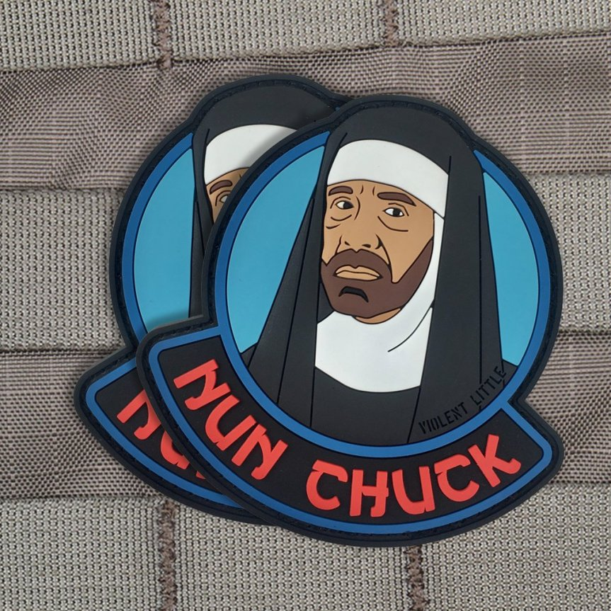 violent little machine shop nun chuck edc morale patch for your plate carrier range bag patches. 2.jpg