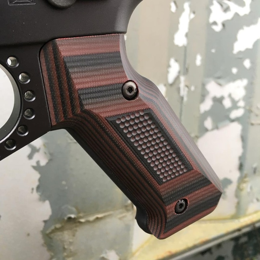doublestar corp stronghold pistol grip aluminum ar15 grip made of g10 MLOK 1.jpg