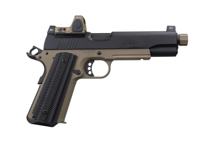 ed brown special forces inspired socom edition 1911 pistol suppresor height sights 1911 with rmr threaded barrel 45acp 3
